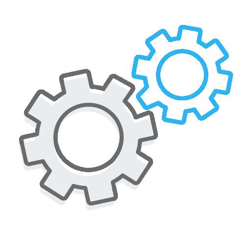 Magaya Values Teamwork Well-Oiled Machine Gears Icon