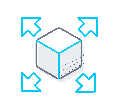 Scalable dimensioner solution icon
