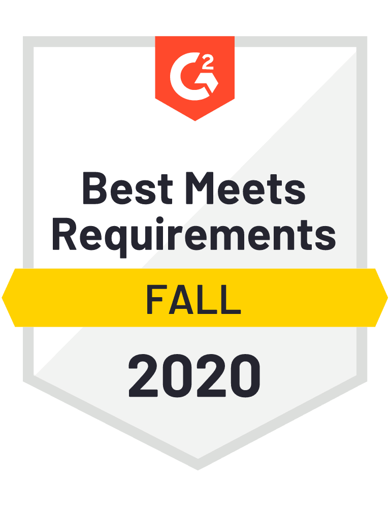 G2 Badge for Logistics Software that Best Meets Requirements Fall 2020