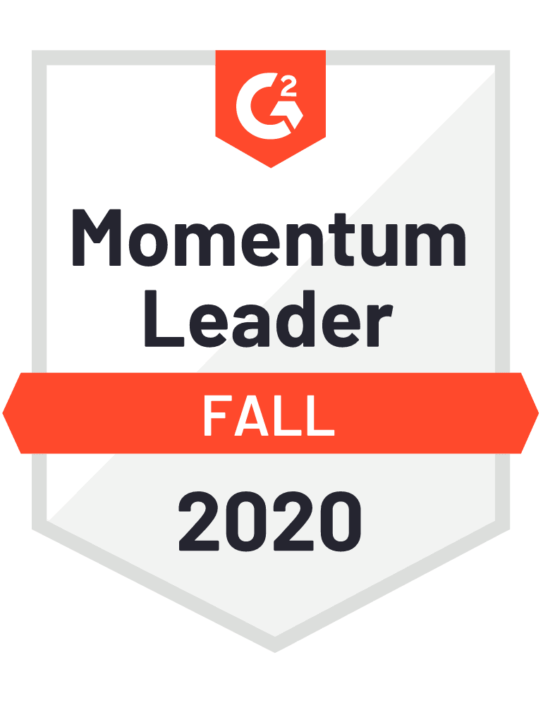 Magaya G2 Momentum Leader Badge for Logistics and WMS Software Fall 2020
