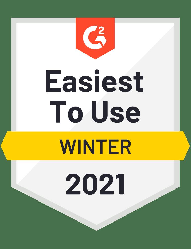Medalla G2 por el mejor software de gestión de carga fácil de usar, la elección del cliente