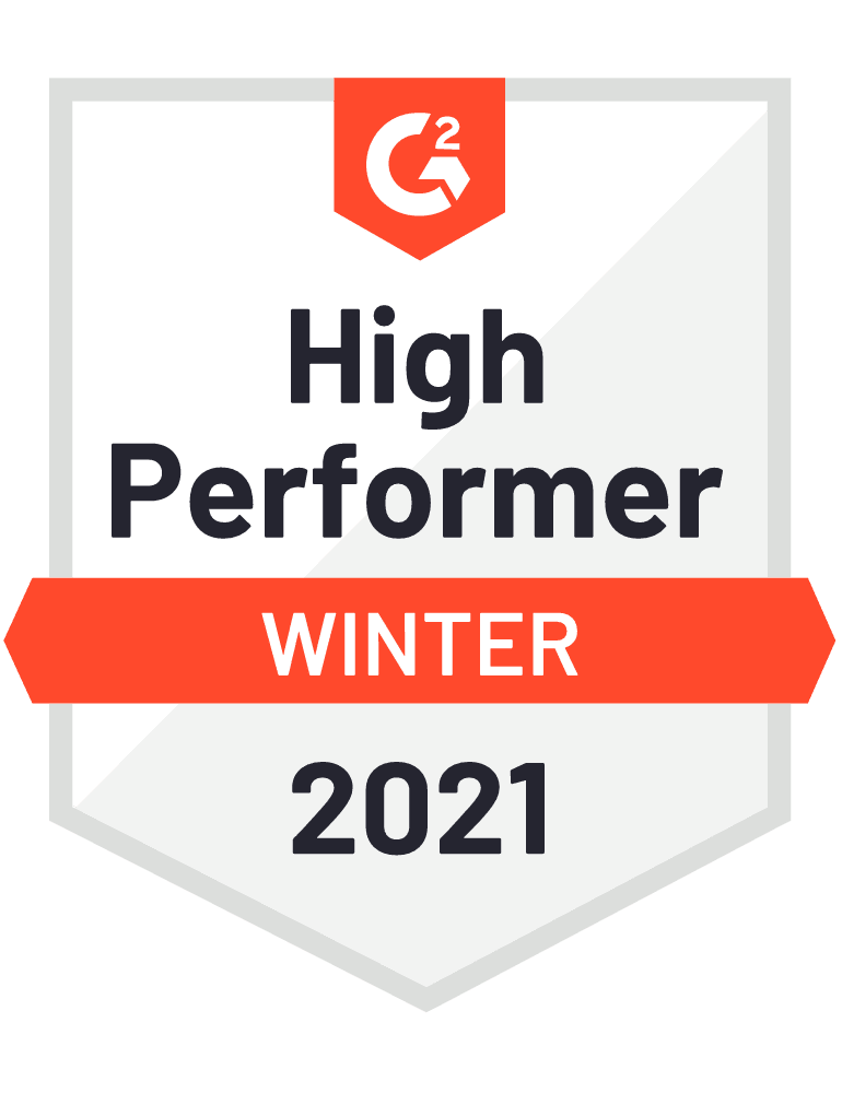 G2 High Performer in Logistics Software Fall 2020